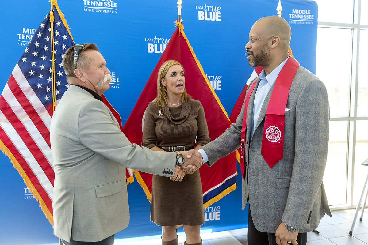 MTSU red stole honors graduating student veterans heading to career changes