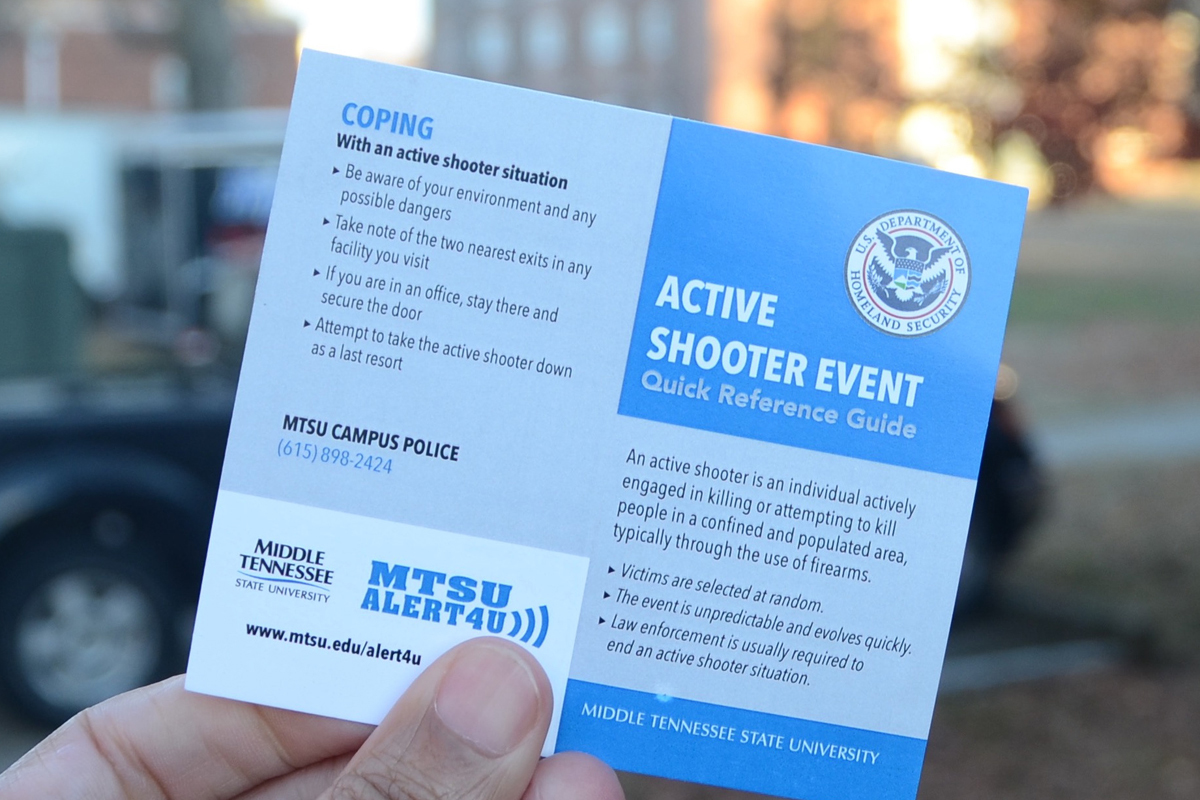 UPDATE: MTSU enhances security with active shooter guides, adding 400 cameras