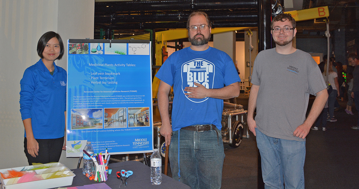 MTSU biologists share medicinal plant research at Nashville exhibition