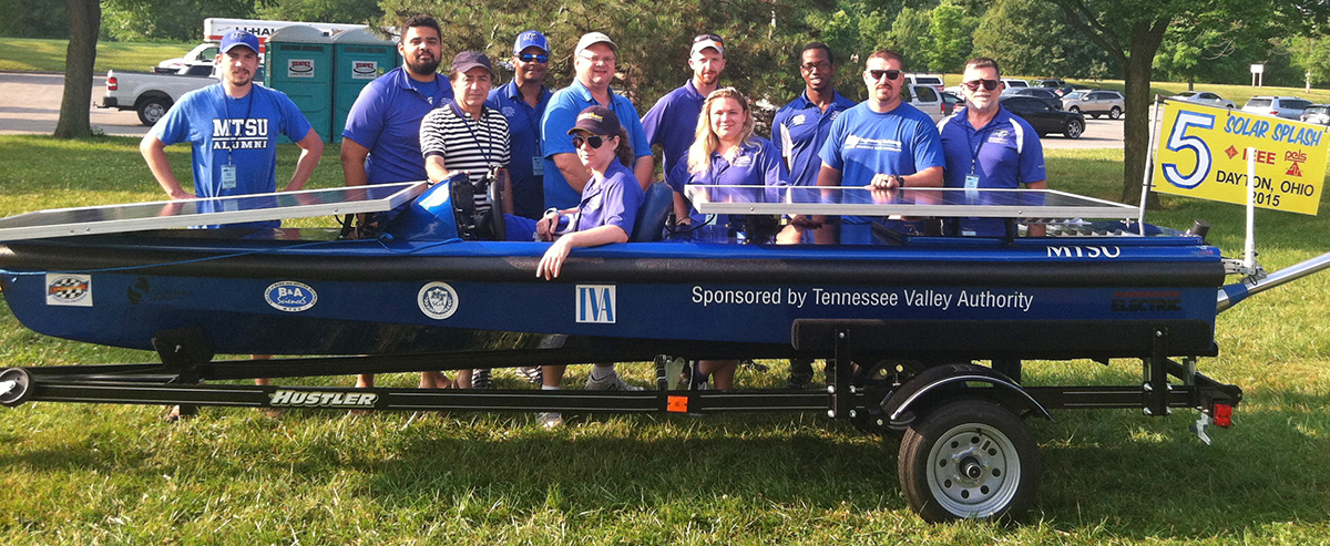 MTSU solar boat team claims second place, eight national awards