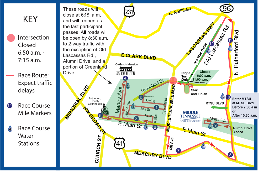 10th Annual Murfreesboro Half Marathon on Saturday