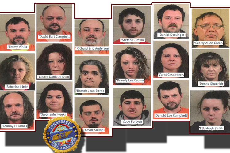 Over A Dozen Arrested on Drug Charges in Nearby Grundy County, TN