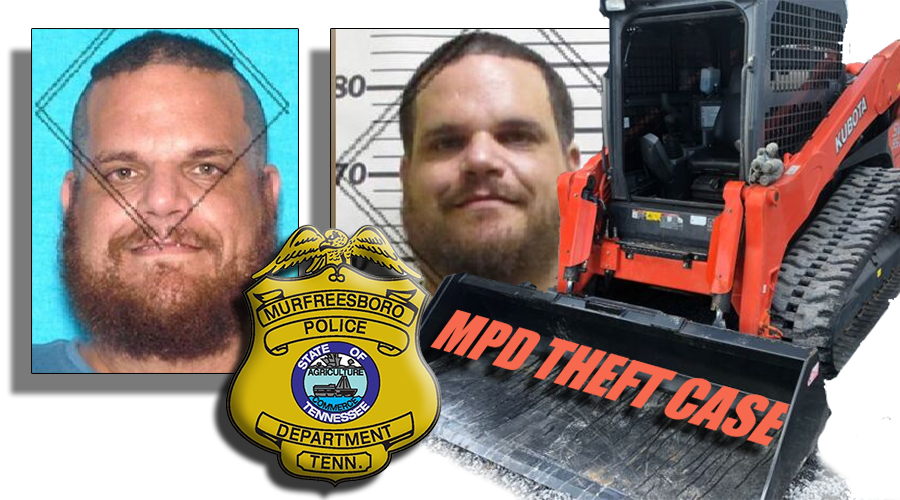 UPDATE: Murfreesboro Police continue searching for a man believed to have stolen a 22-foot trailer along with a Kubota Skid Steer (Model #43444). Both were taken from Providence Christian Academy on DeJarnette Lane and valued at over $70,000.