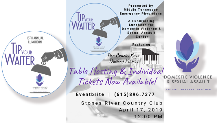Announcing Tip Your Waiter, a 15th annual luncheon event