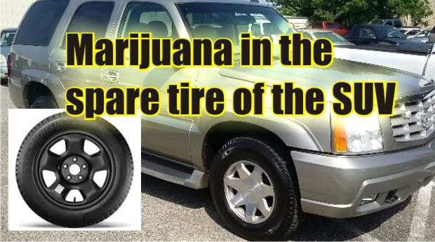 Bags of marijuana hidden in the tire of a Cadillac in Murfreesboro