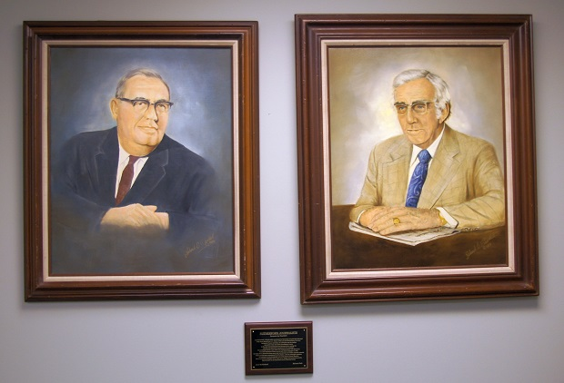 Rutherford County Property Assessor Rob Mitchell displays portraits by Richard 'Dick' Shacklett