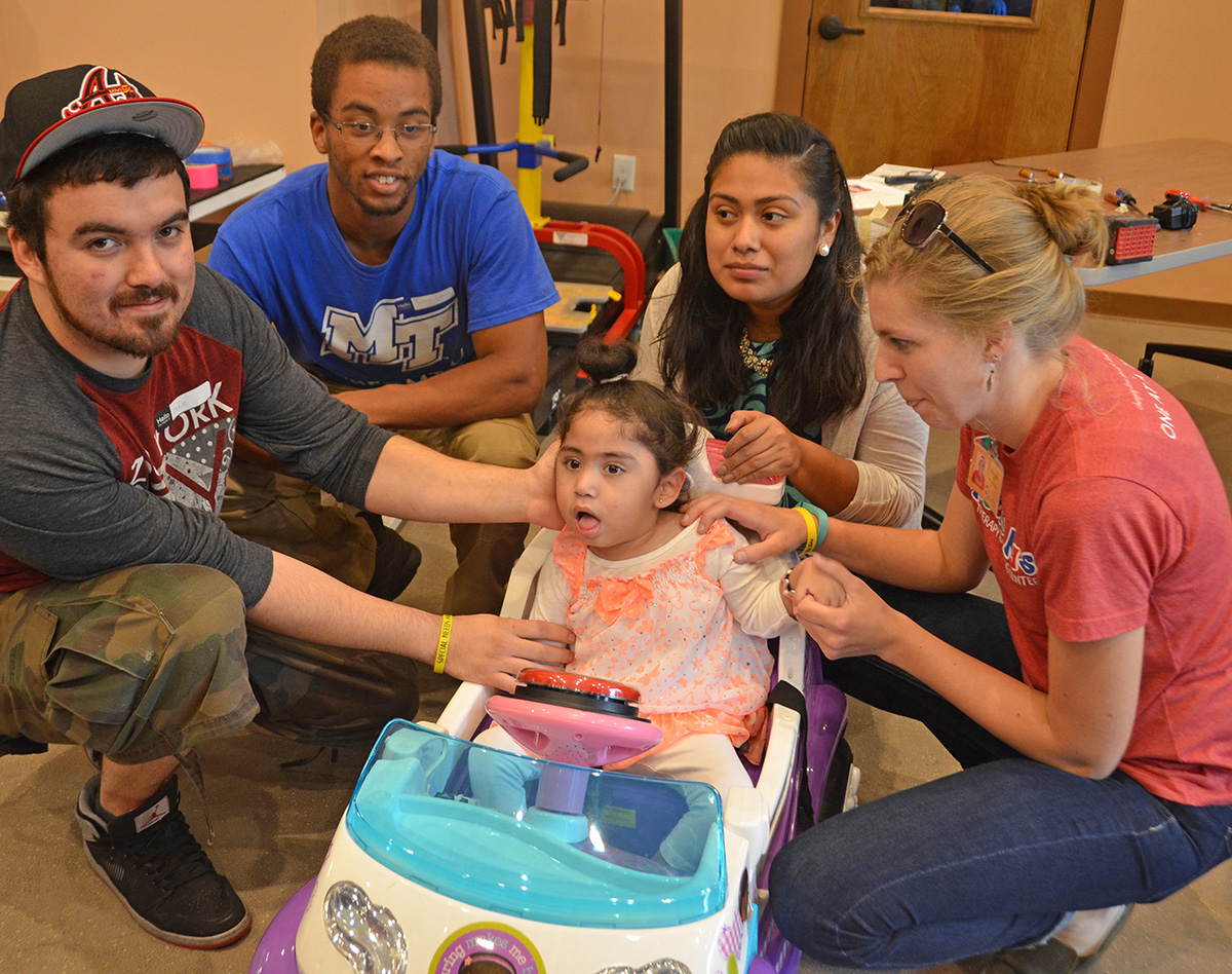MTSU mechatronics students modify Special Kids' cars