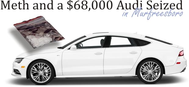 New Audi and Meth seized at a Murfreesboro area Motel
