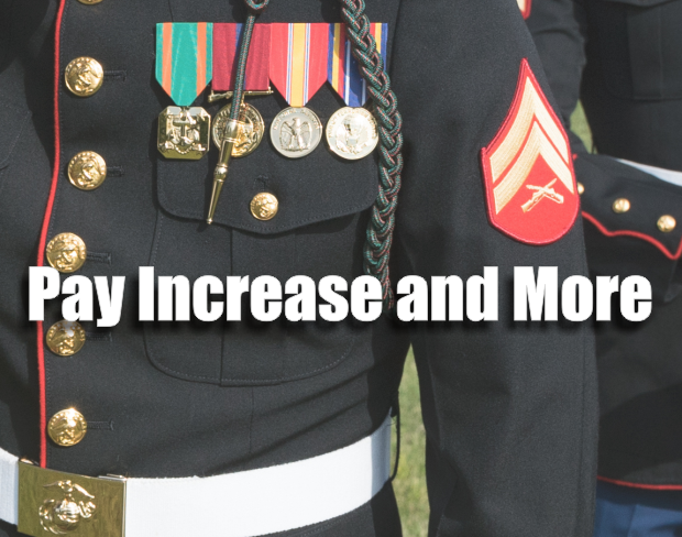 A Military Pay Increased Proposed by Congress - Must be signed by President