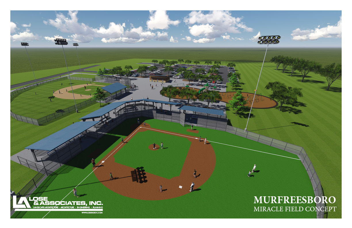 Groundbreaking for New $2.2 Million Special Needs Baseball Complex in Murfreesboro