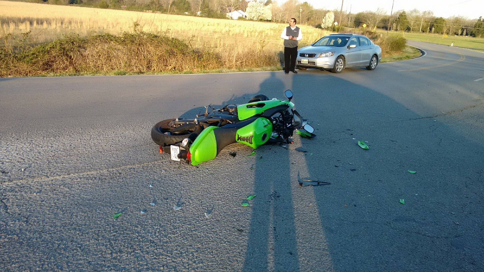 No Injuries in Tuesday Morning Motorcycle Accident