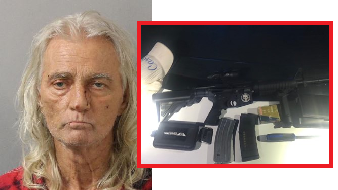 Convicted Thief & Burglar Caught Walking Around with Stolen AR-15 Rifle