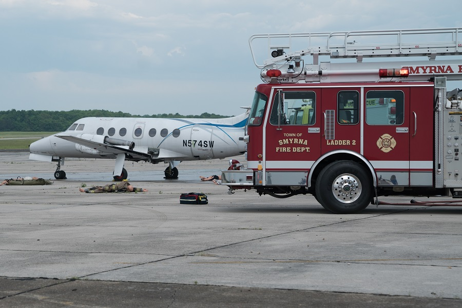 Successful Mock Emergency Drill of Plane Crash at Smyrna Airport