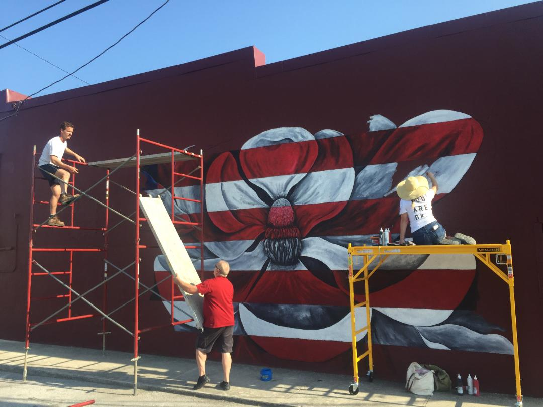 Beautiful Mural in Manchester by Murfreesboro Artist meets Controversy