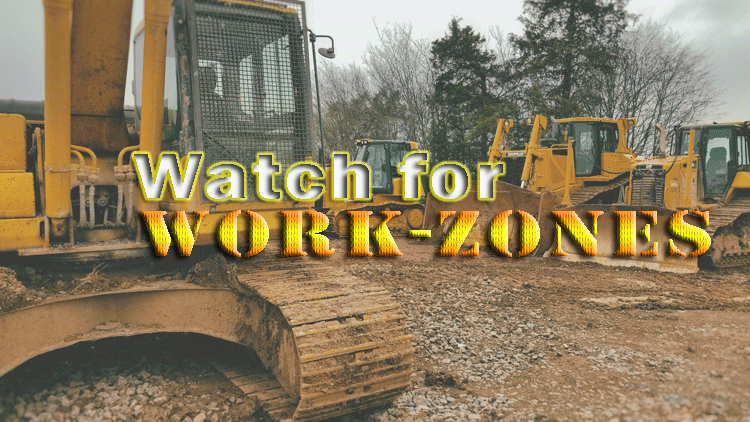 Use caution in workzones