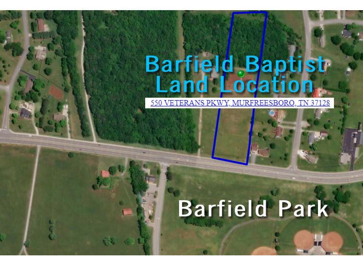 UPDATE: Barfield Baptist Church Purchases Land Across from Barfield Park