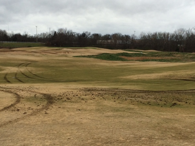 Extensive damage caused by vandals on the Old Fort Park Golf Course