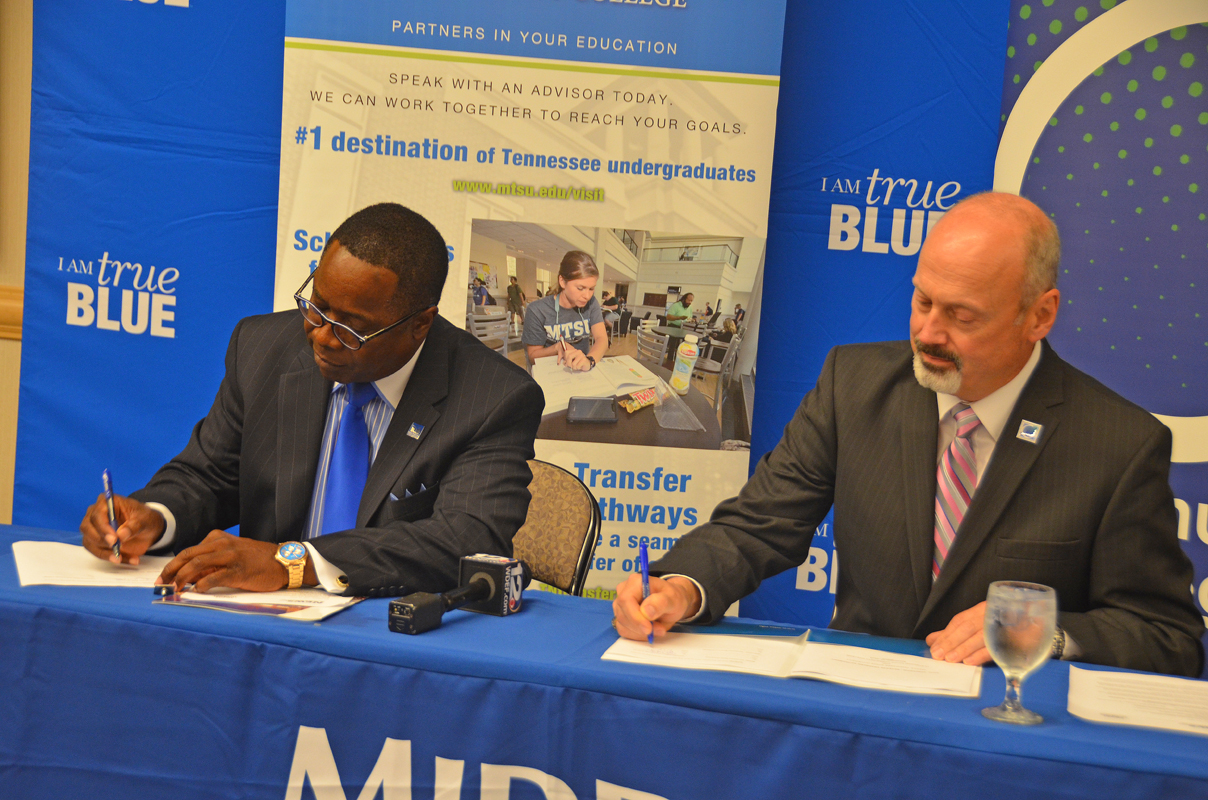 MTSU and Cleveland State Community College Sign Agreement