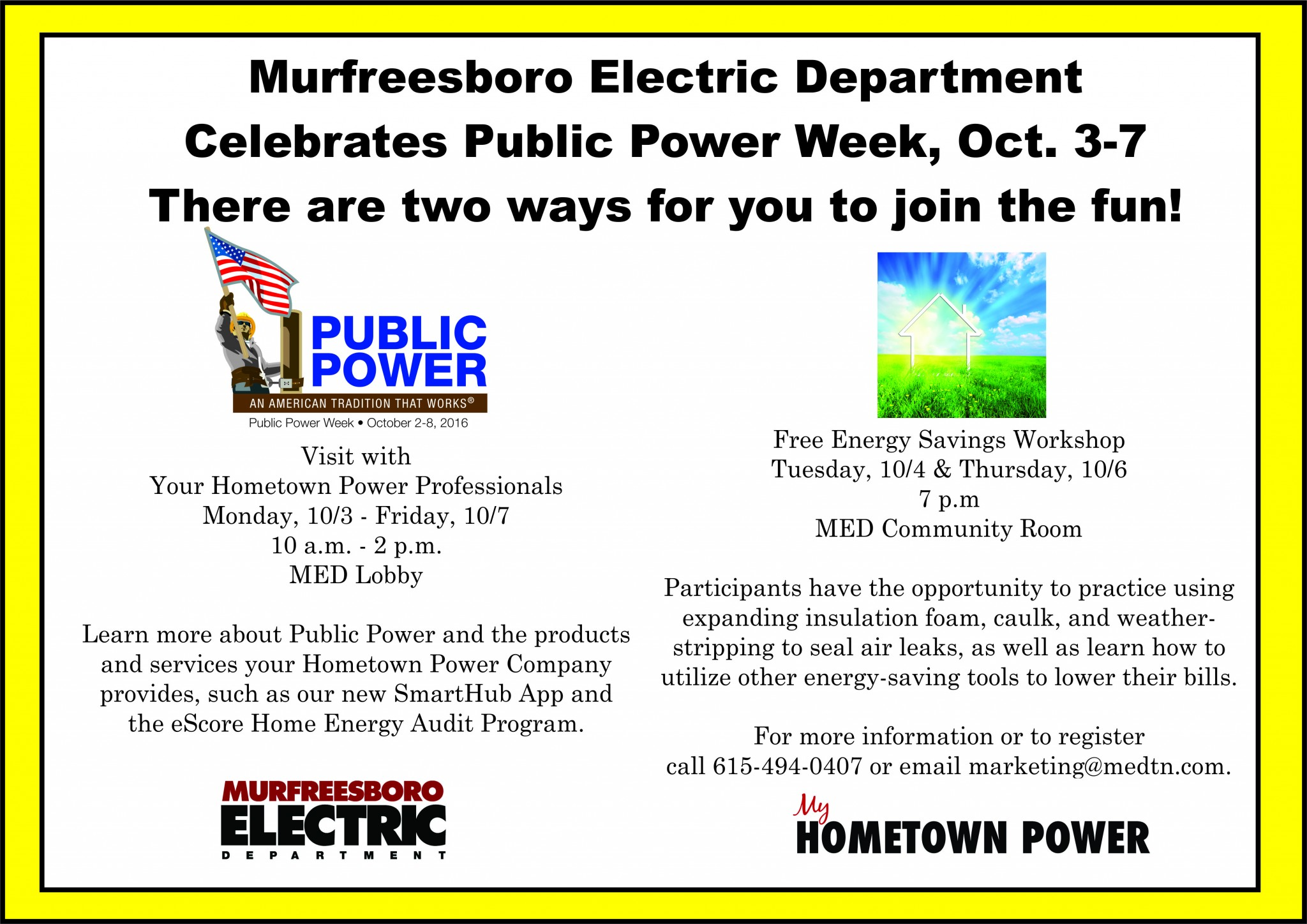 Murfreesboro Electric Celebrating Public Power Week