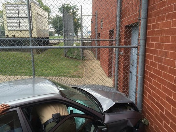 Car Crashes into Rutherford County Adult Detention Center