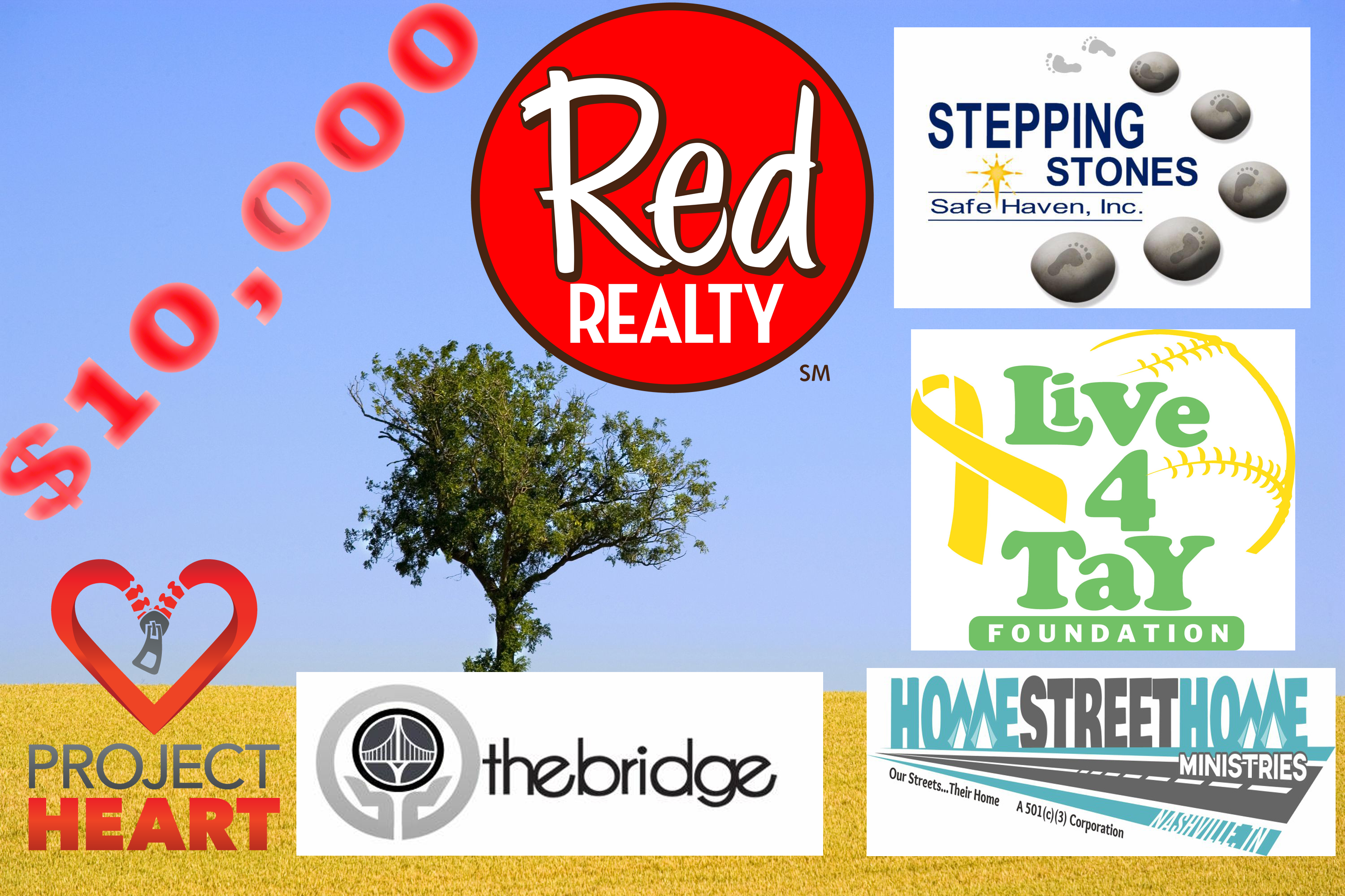 Red Realty in Murfreesboro Announces Winners of $10,000 Non Profit Awards