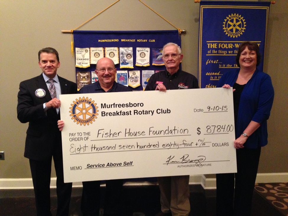 Murfreesboro Breakfast Rotary raises over $8 Grand for The Fisher House