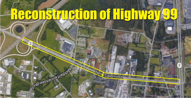 Widening of Highway 99 in Murfreesboro