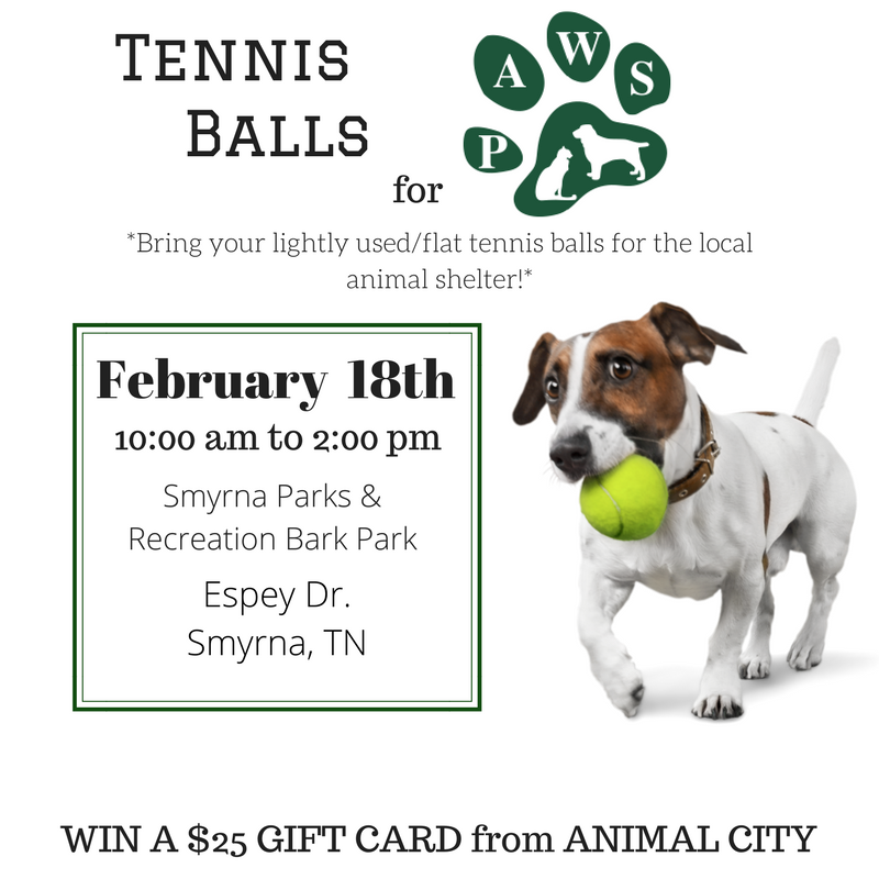 Operation: Rutherford Recycles will be hosting the Tennis Balls for PAWS