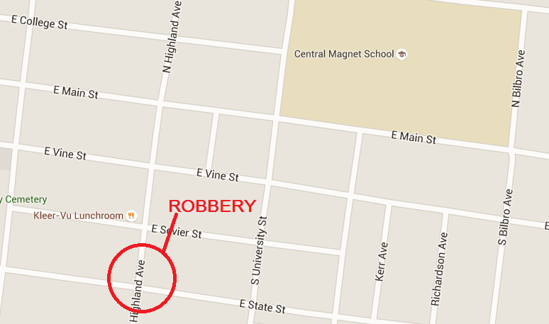 Armed robbery reported near local school at 3:30 in the afternoon