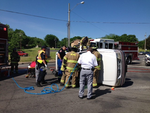 Rollover Accident on Norhtfield Blvd. Wednesday morning