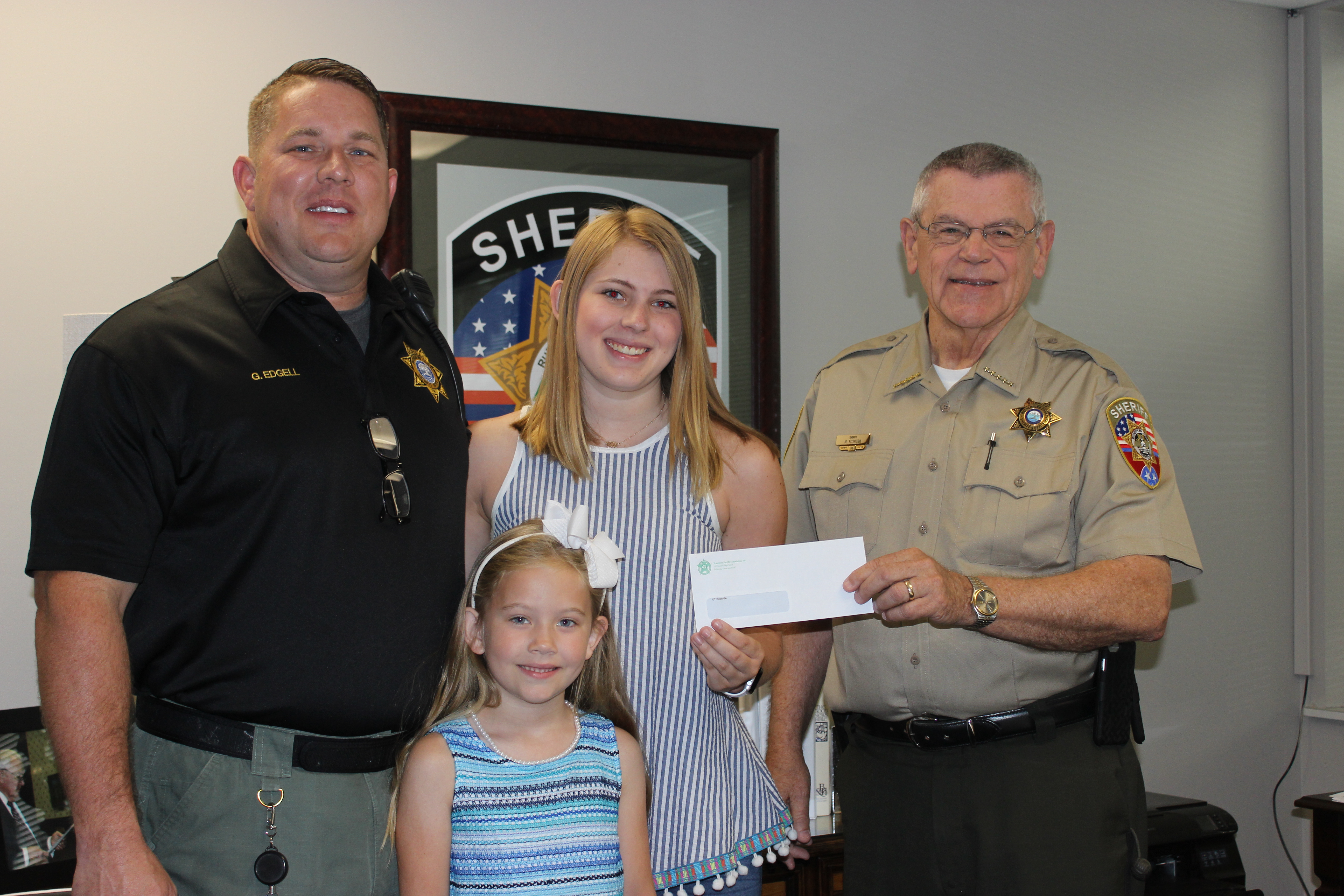 Children of three Sheriff's Office employees receive scholarships