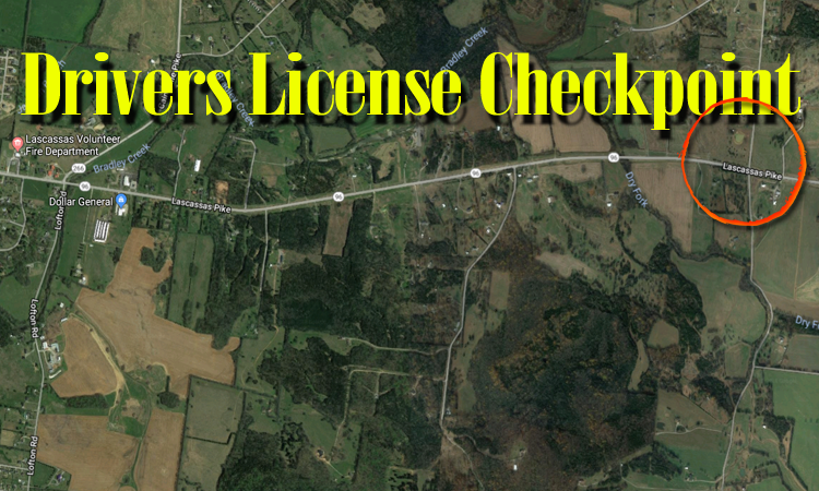 OCTOBER 12: Drivers License Checkpoint in Rutherford County