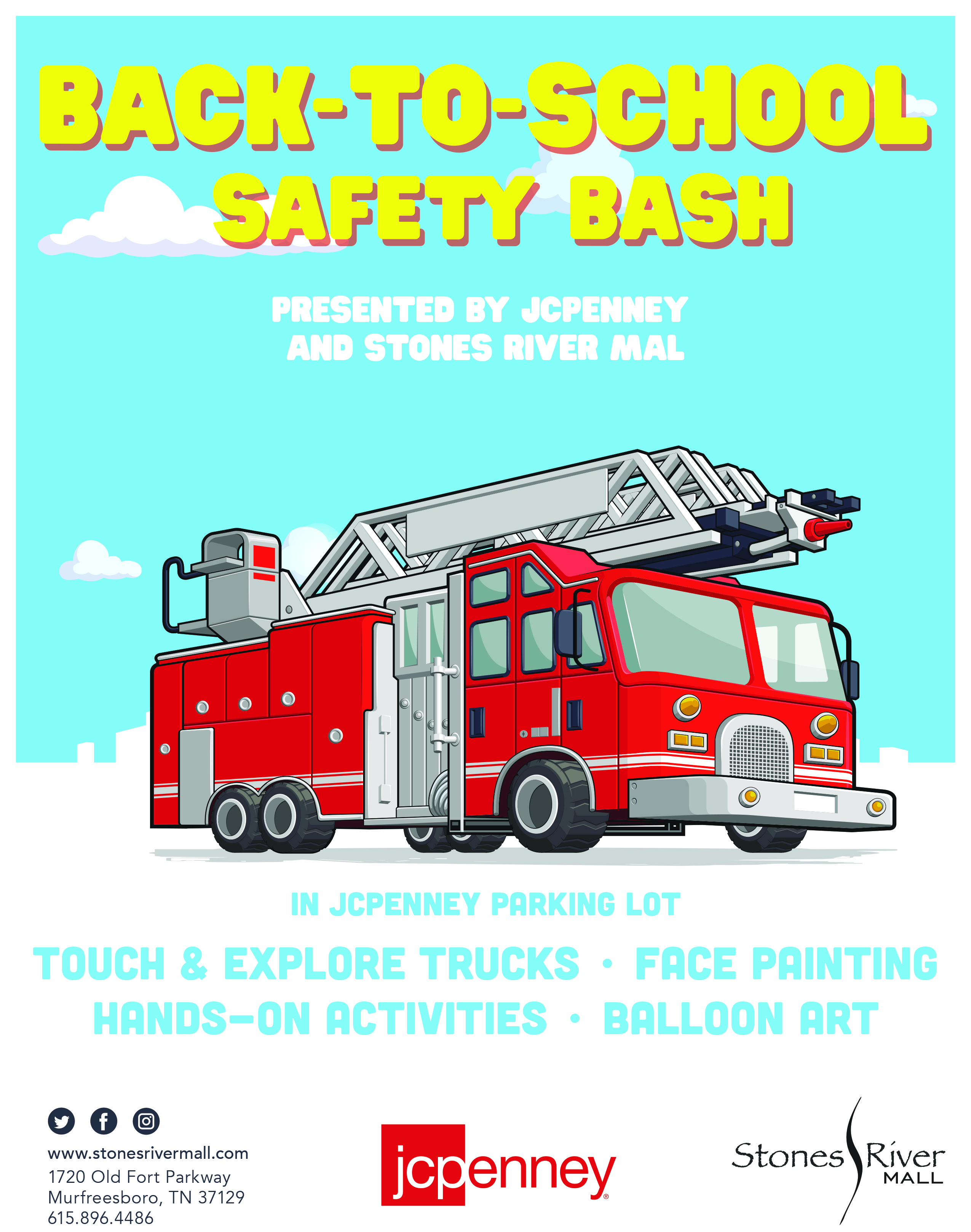 Stones River Mall, JCPenney present Back-to-School Safety Bash on ...