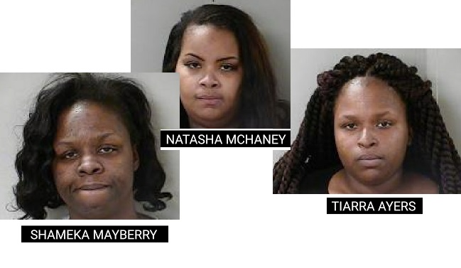 Three women busted for shoplifting in Murfreesboro