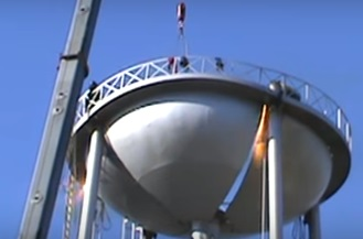 VIDEO: Taking down a 50-year old water tower in Smithville, TN