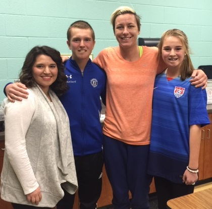 America's most famous female soccer player takes time to visit with teen soccer player in Murfreesboro with malignant brain tumor