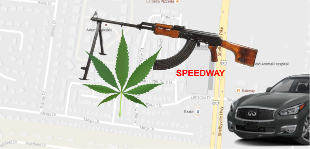 AK-47, Ammo and Backpacks of Marijuana in Murfreesboro