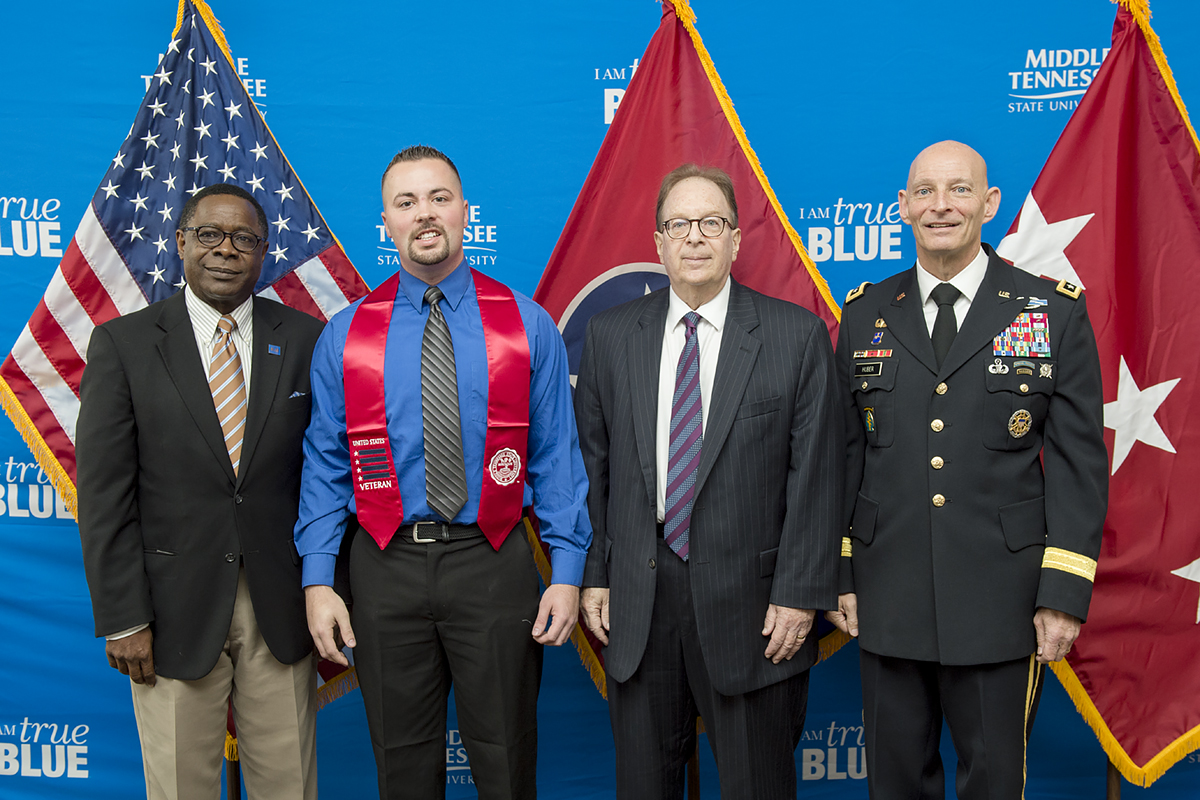 MTSU 'salutes' graduating student veterans during Stole Ceremony