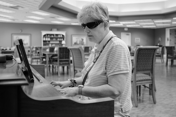 She may be blind, but she can play 7 different instruments