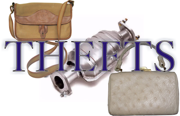Catalytic Converter and Purses the Target of Recent Murfreesboro Thefts