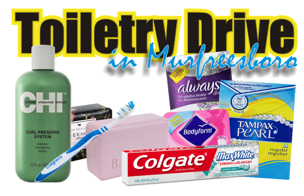 Toiletry drive in Murfreesboro going on now through December 18th