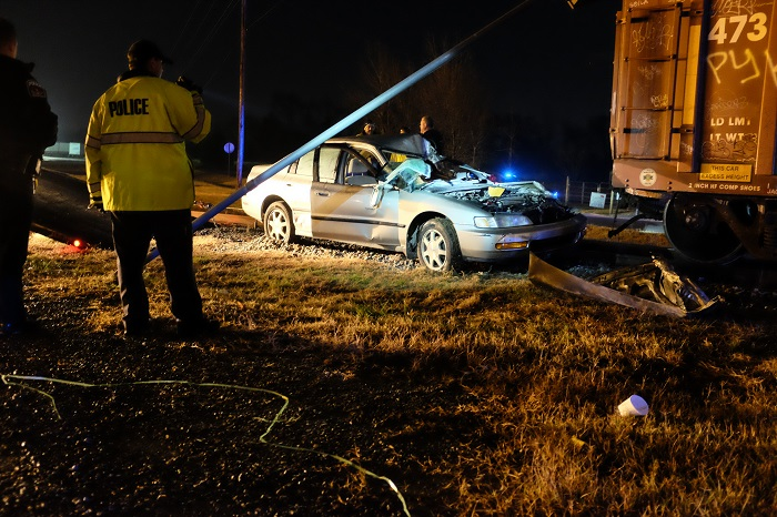 Train Vs. Car accident in Murfreesboro Tuesday night