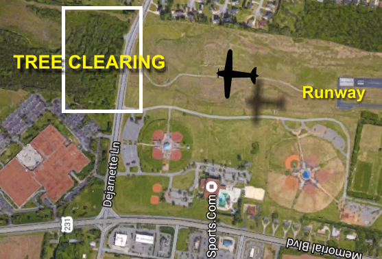 Tree clearing for the Murfreesboro Airport