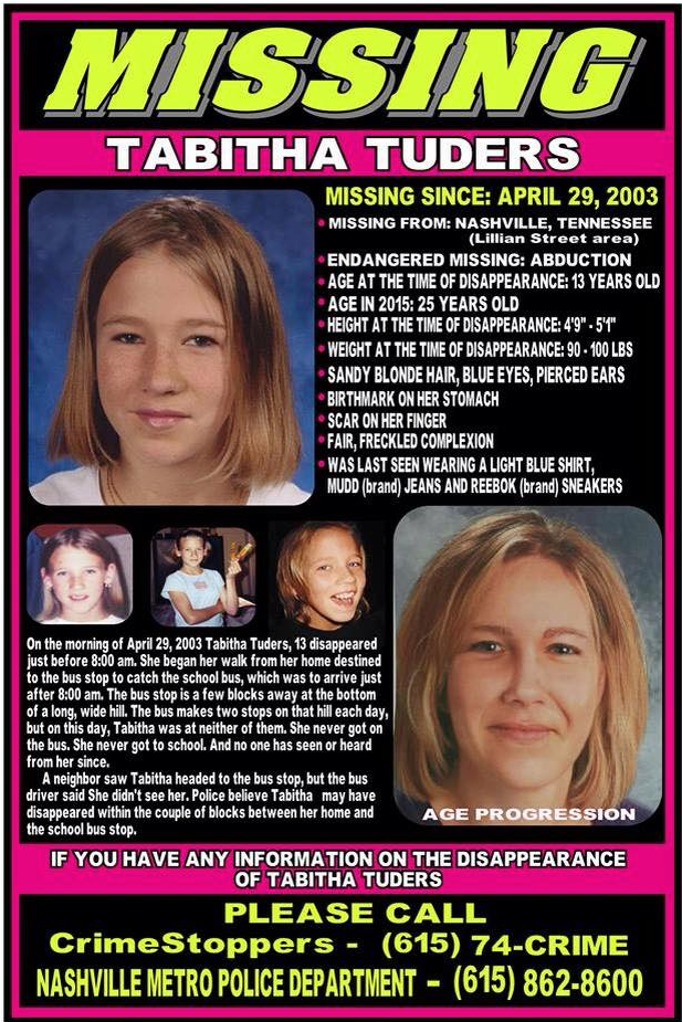 STILL MISSING: Tabitha Tuders