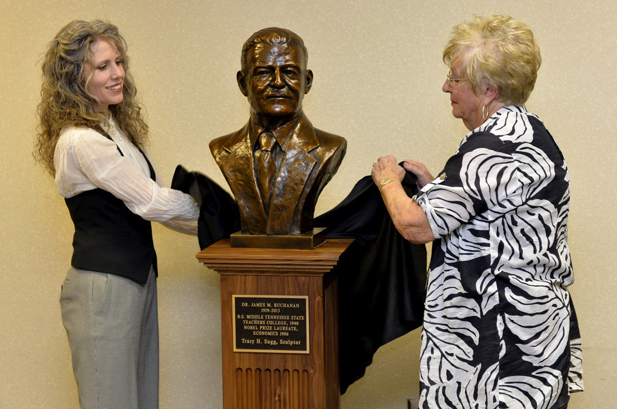 Bronze Bust Unveiled on the MTSU Campus