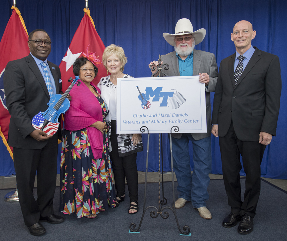MTSU unveils plaque, logo recognizing Daniels-led vet center gifts