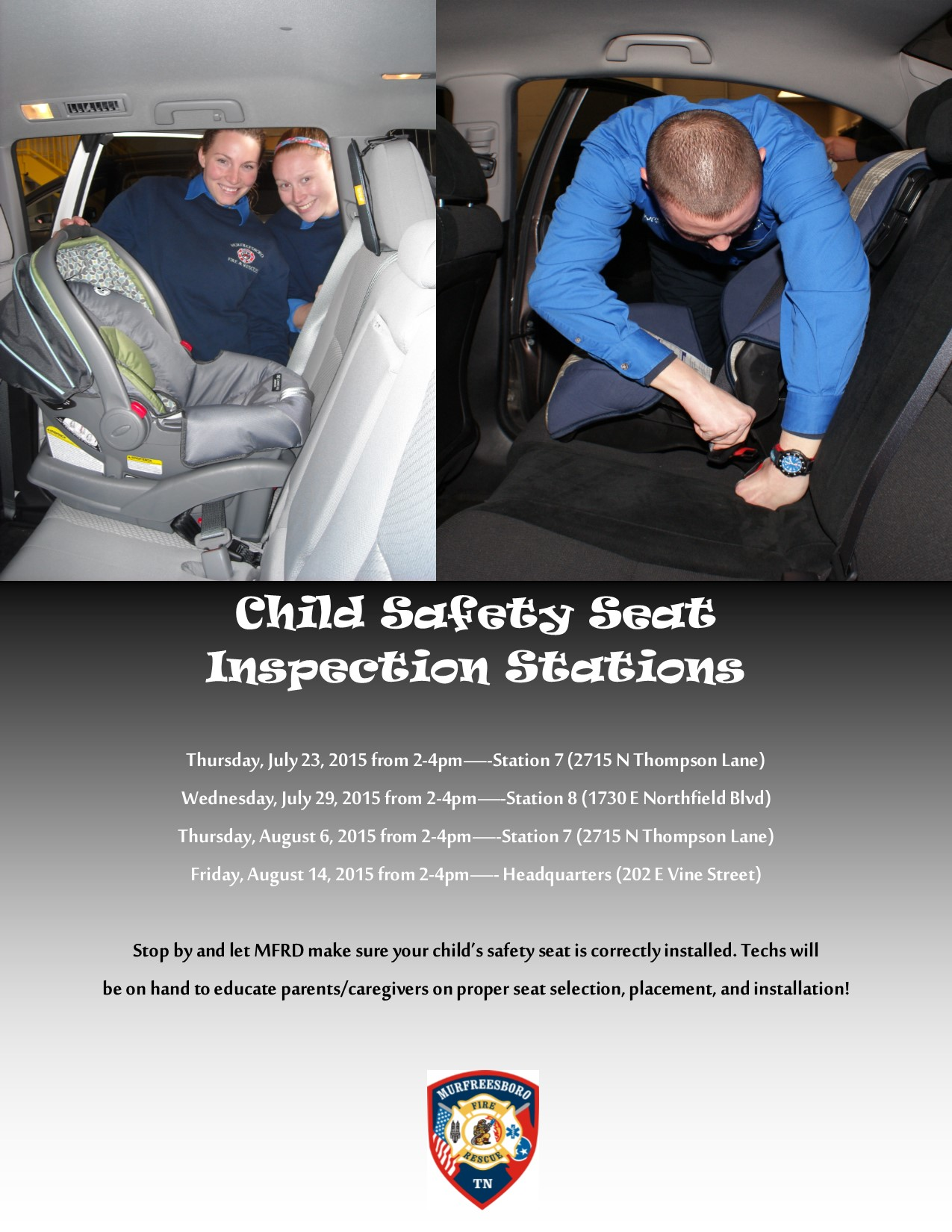 Child Safety Seat Inspections