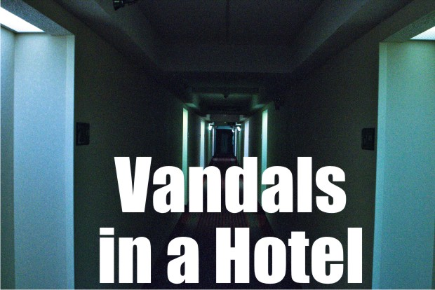 Hotel room vandalized, felony warrants obtained
