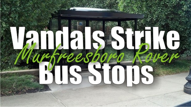 Vandals Strike Rover Bus Stops