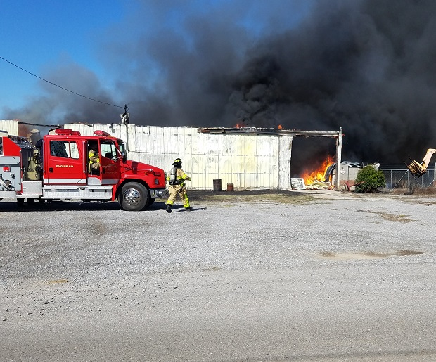 Fire on Veals Road in Rutherford County